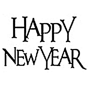 Stempel akrylowy 7x5cm Happy New Year