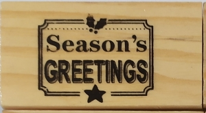 Stempel drewno kauczuk 6,5x3,5cm Season's Greetings