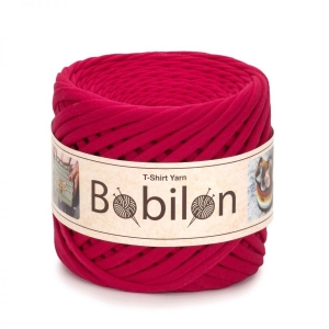 T-shirt yarn medium 7-9mm - Fuchsia