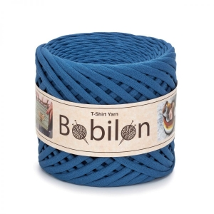 T-shirt yarn medium 7-9mm - Blue Jeans