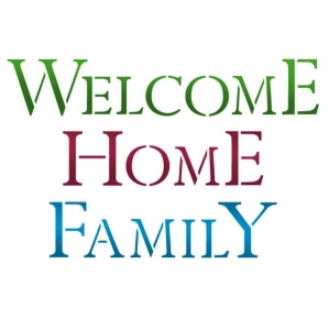 Szablon 21x30cm welcome home family