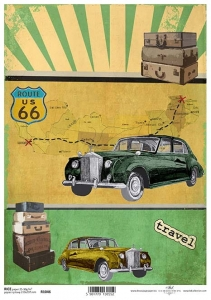 Papier ryżowy A4 R1046 cadilac route 66