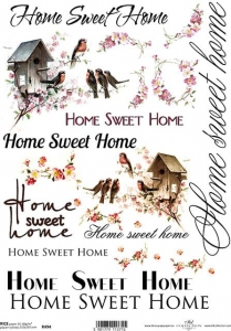Papier ryżowy A4 R494 home sweet home