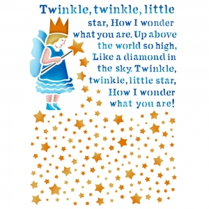 Szablon 15x20cm twinkle little star